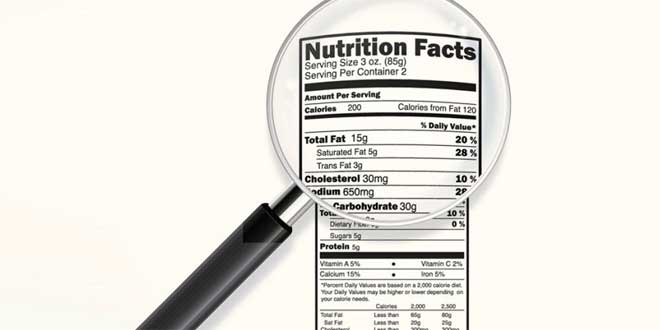etiquetas informacion nutricional
