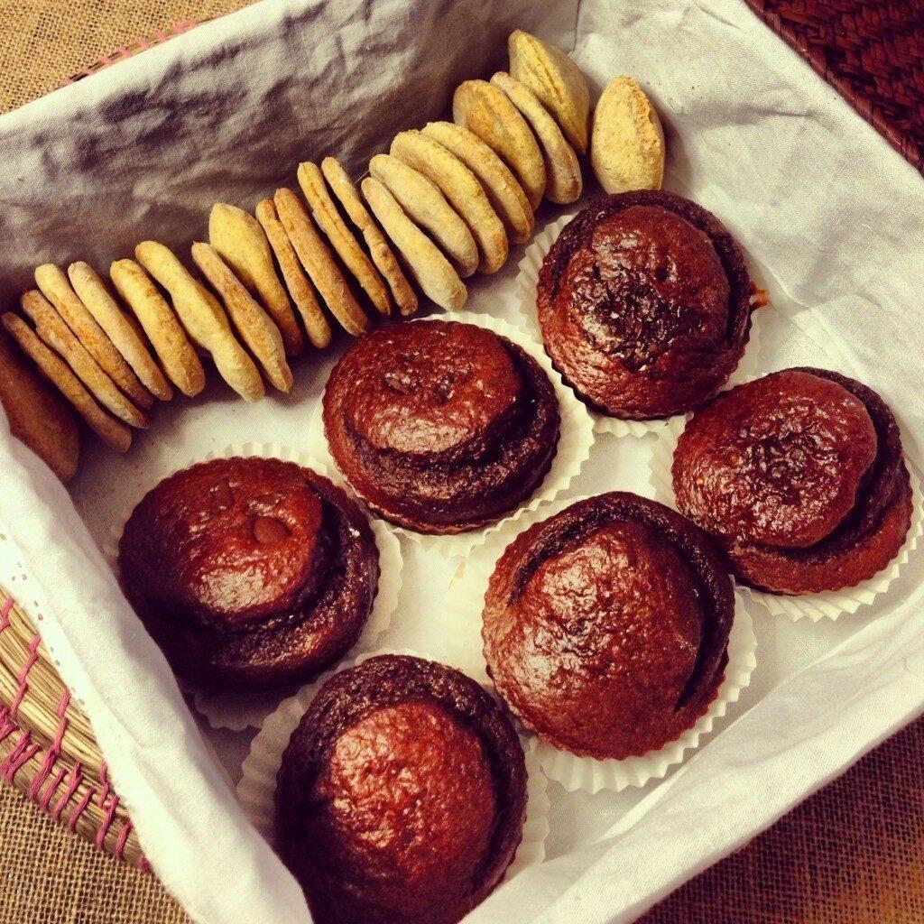 muffins de chocolate y frutos silvestres 1