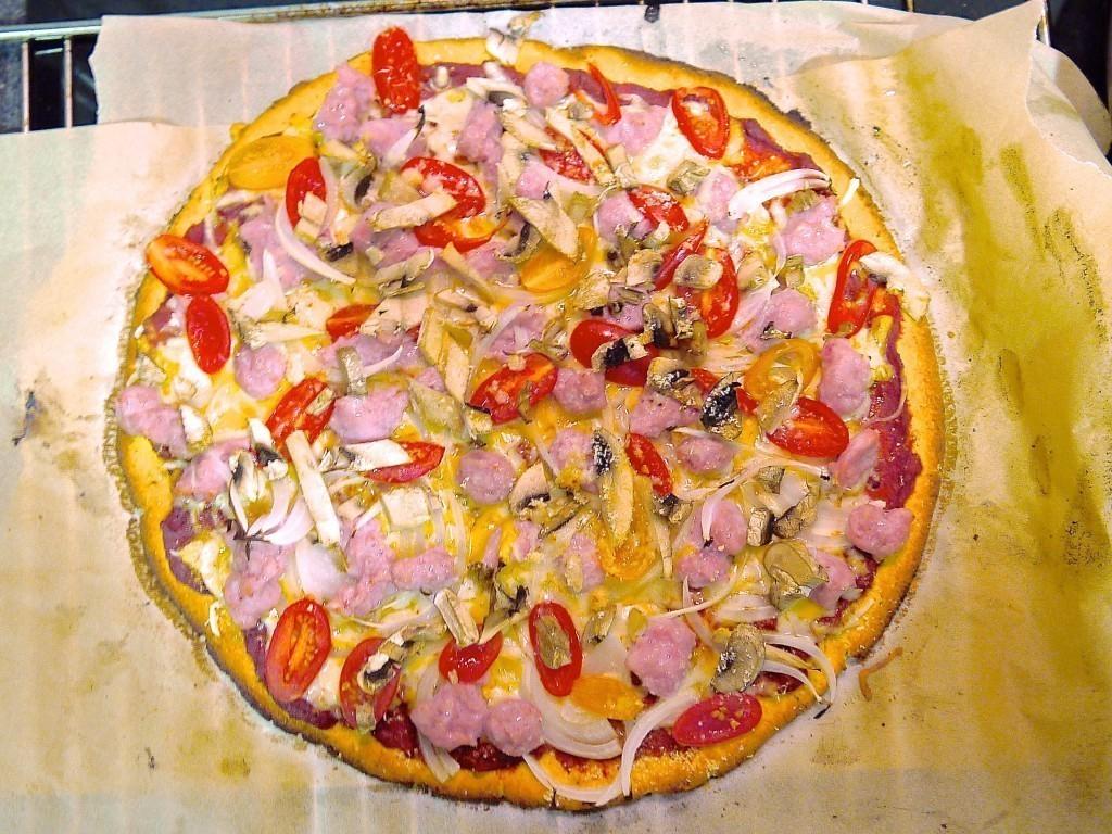 lowcal crunchy pizza 1