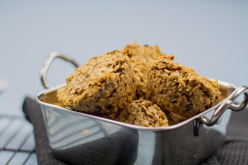 muffins avena arándanos