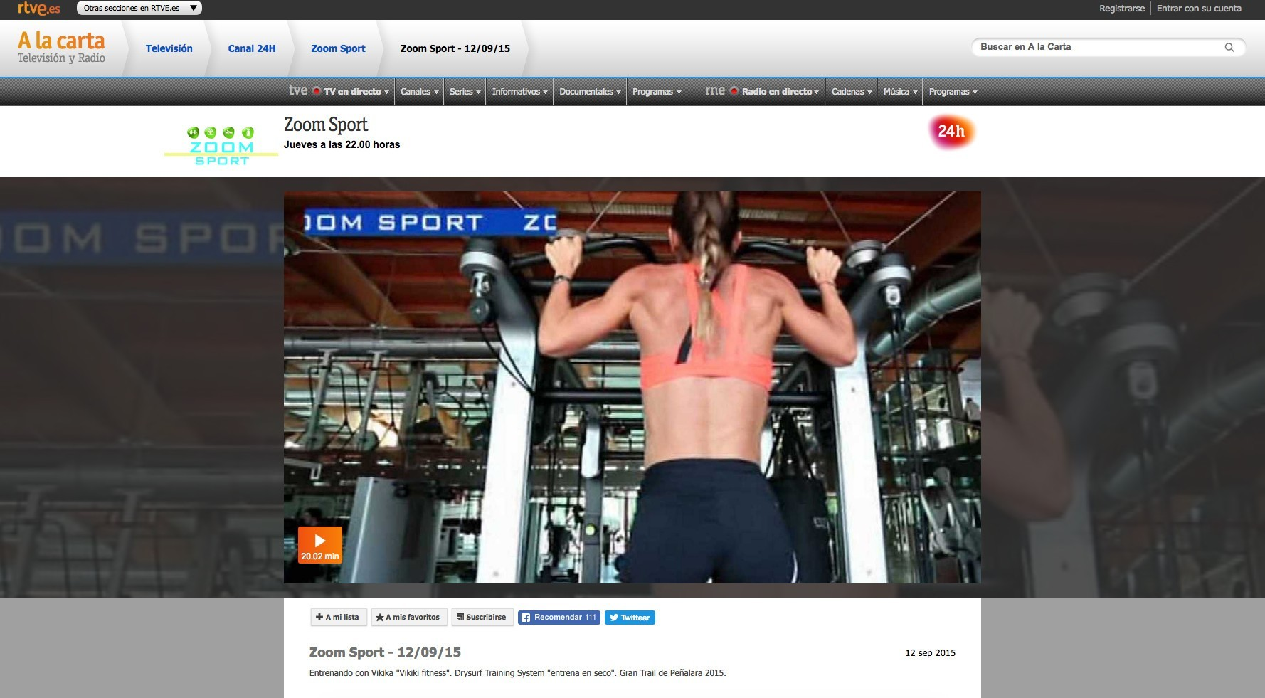 Rtve Zoom Sport 12 09 15