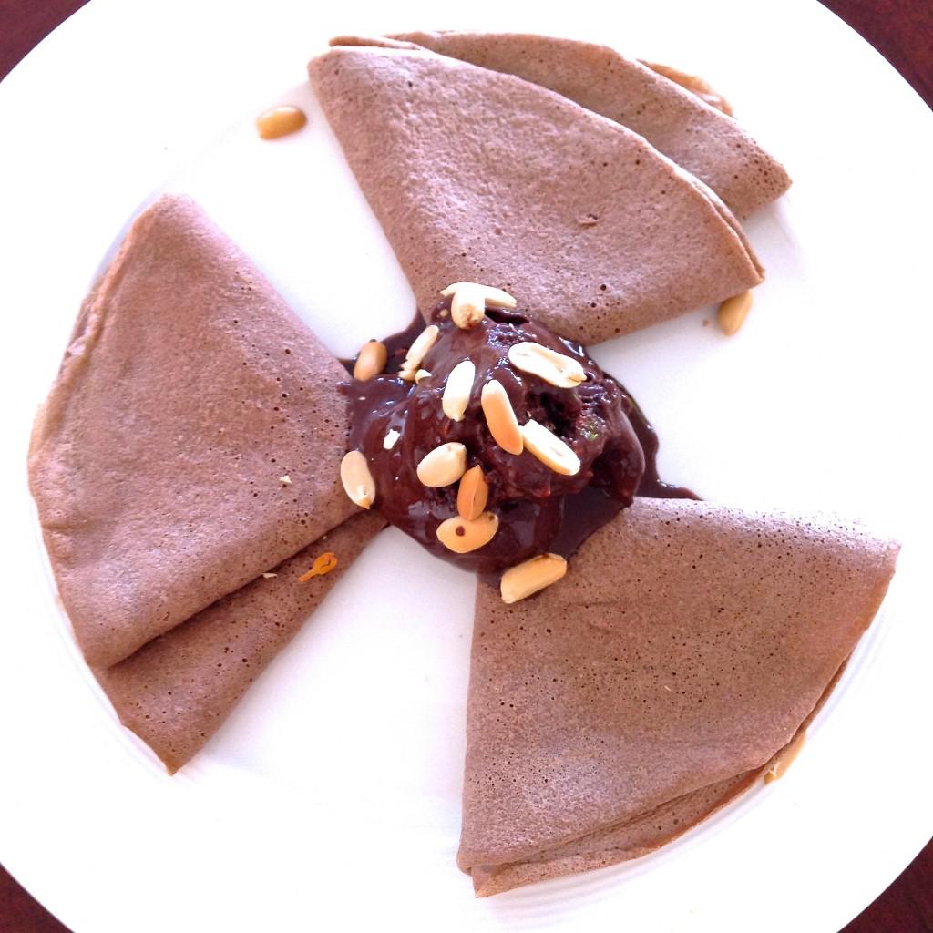 helado de chocolate fit