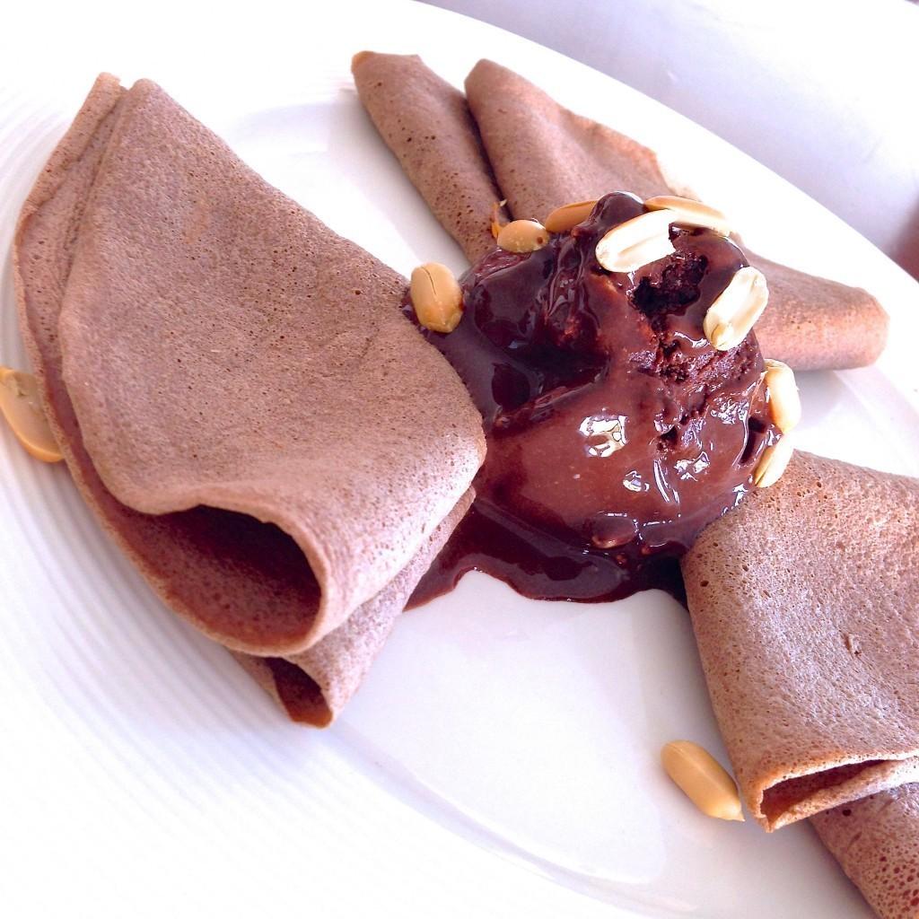 helado fit de chocolate
