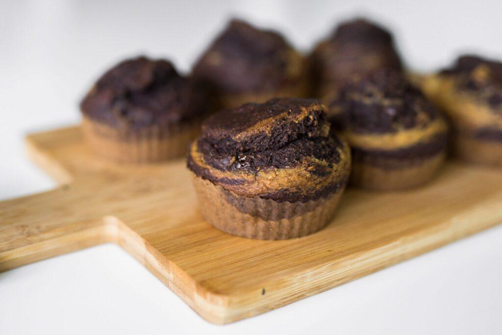 muffin doble chocolate