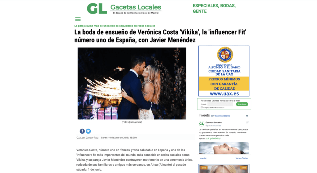 LA BODA DE ENSUEÑO DE VERONICA COSTA Y JAVIER MENENDEZ