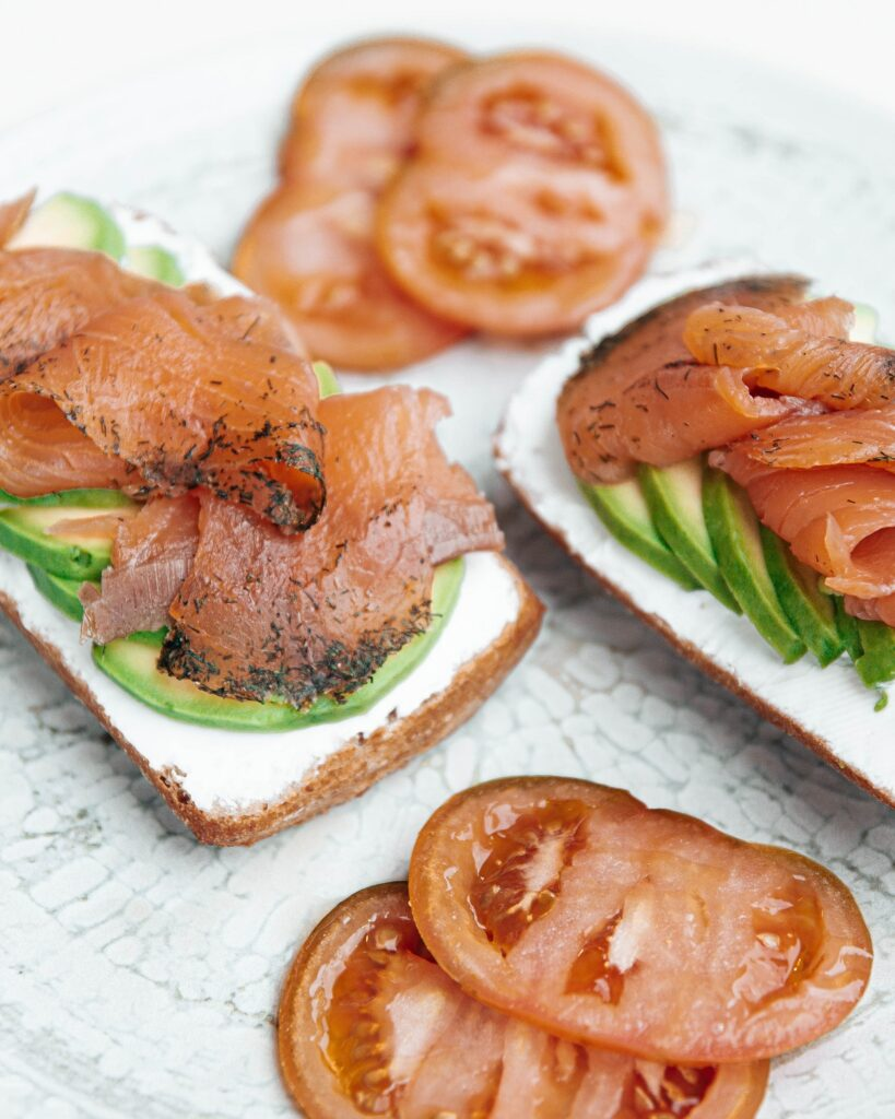 desayuno de salmón