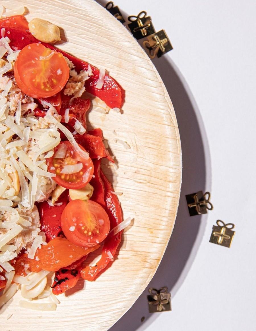 ensalada de pimientos asados