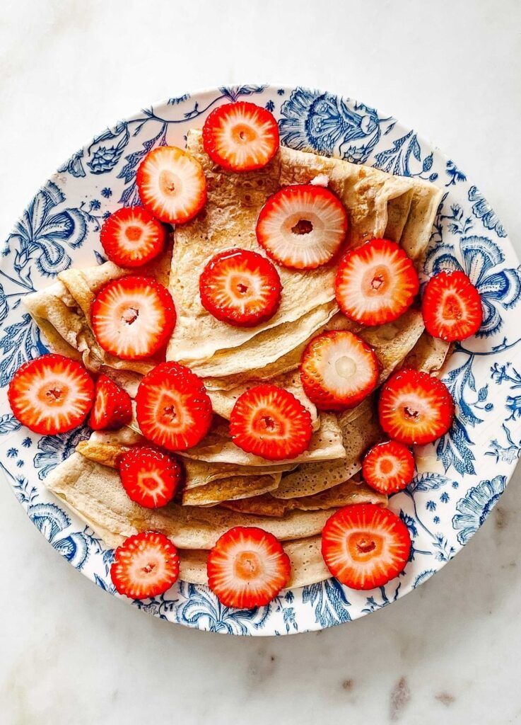 crepes proteicos con fresas