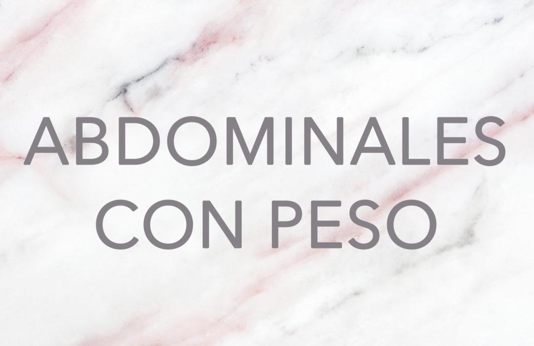 ENTRENAMIENTO/ Abdominales con peso