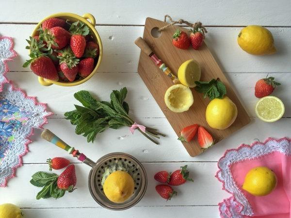 Limonada de fresa saludable