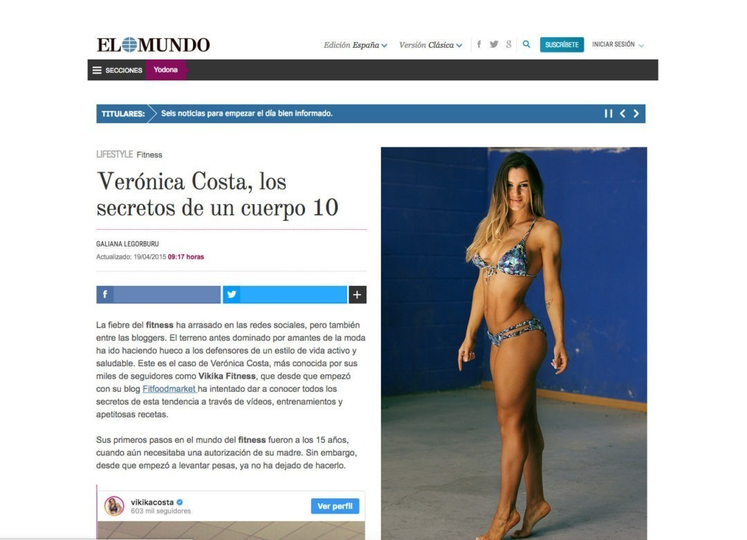 Verónica Costa, los secretos de un cuerpo 10