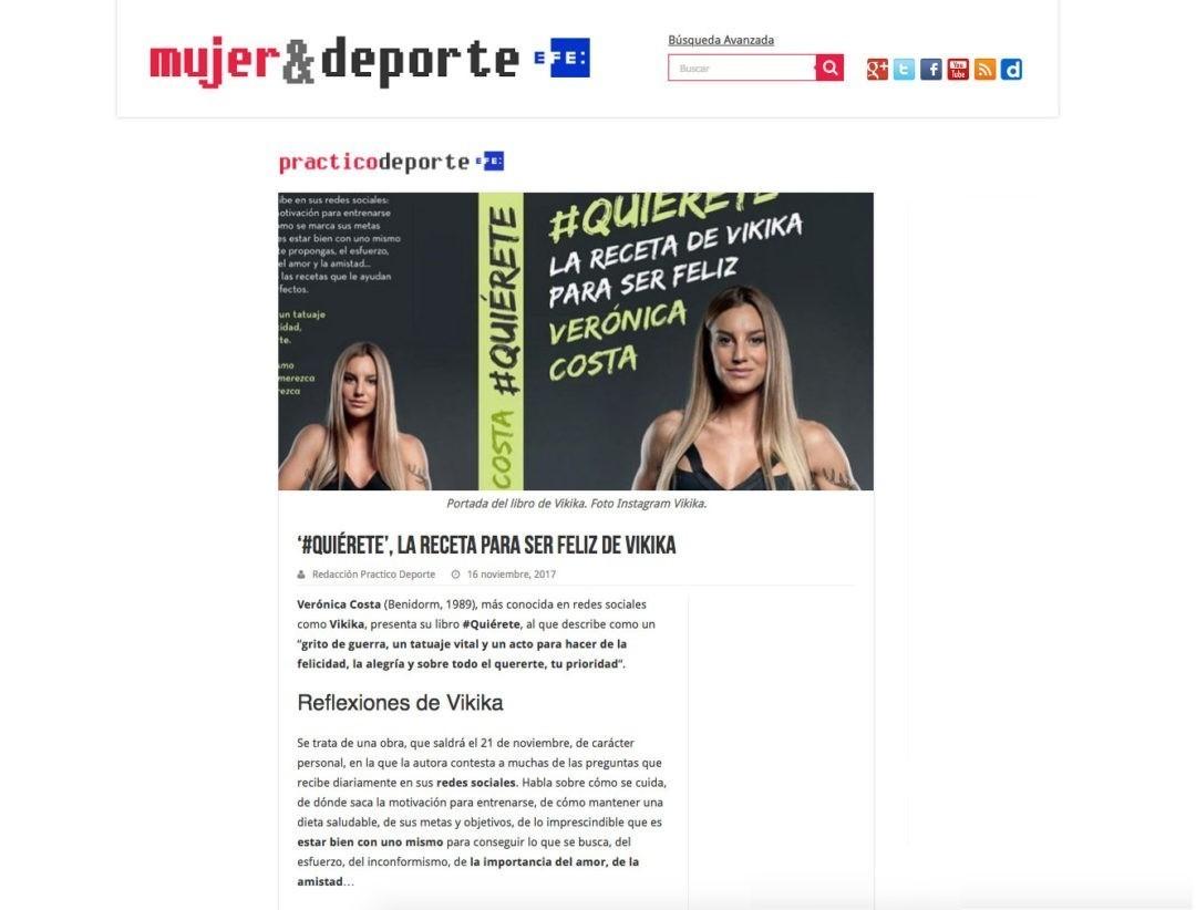 """""""#Quiérete"""", la receta para ser feliz de Vikika"""