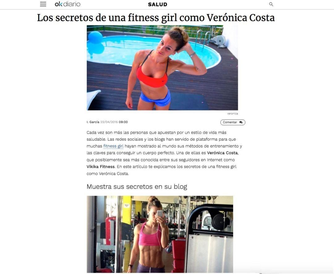 Los secretos de una fitness girl como Verónica Costa