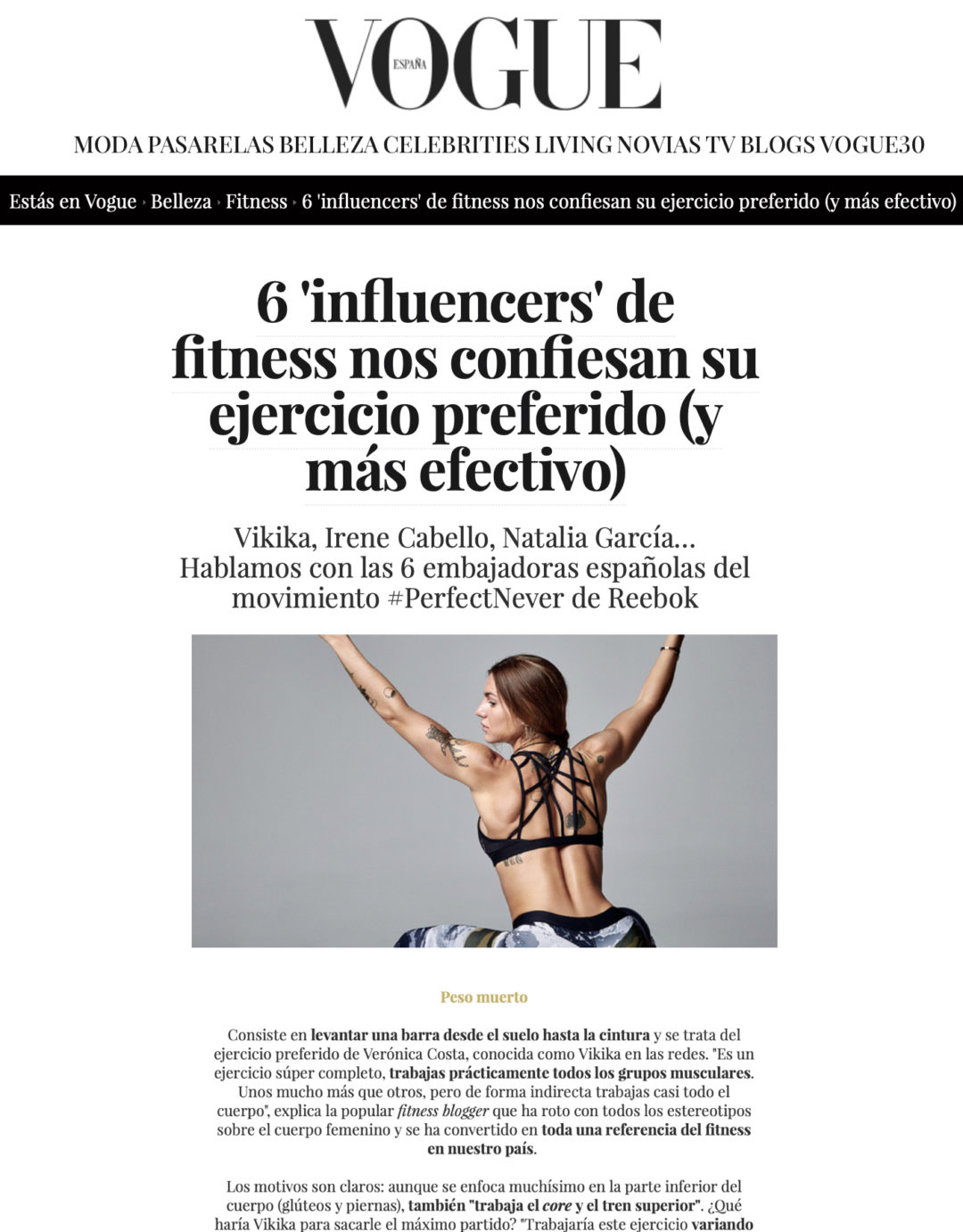 Vogue Belleza Fitness