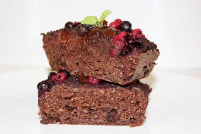 RECETA/ Brownie de chocolate, frambuesas y ¿cocacola zero?