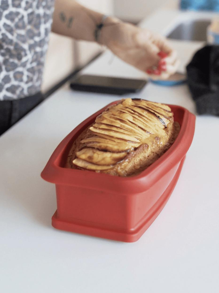 bizcocho proteico de manzana