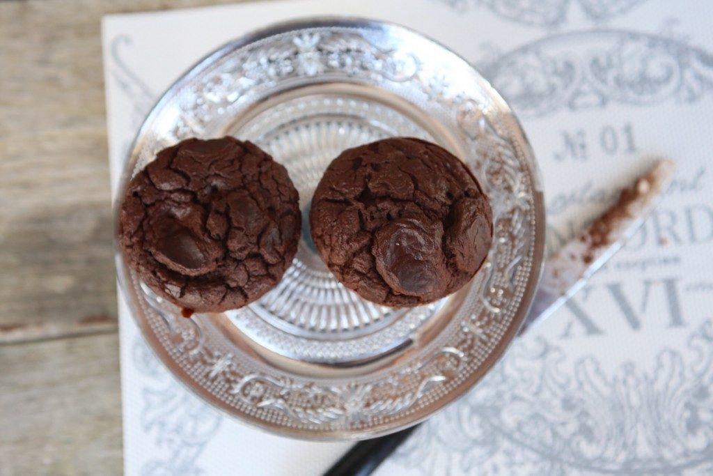 muffins de chocolate y calabaza