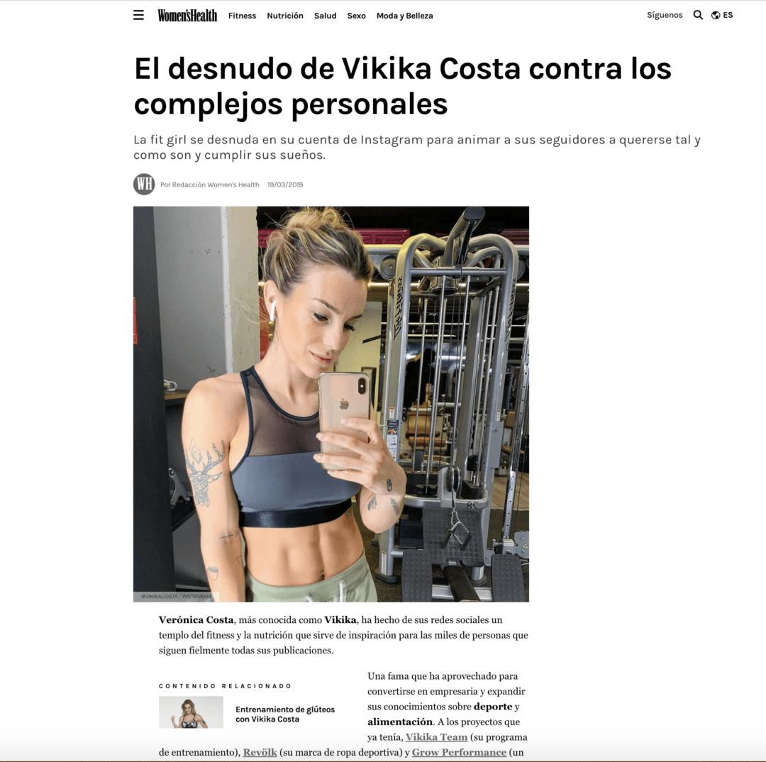 EL DESNUDO DE VIKIKA COSTA CONTRA LOS COMPLEJOS PERSONALES