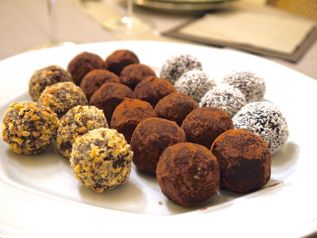 trufas de chocolate fit