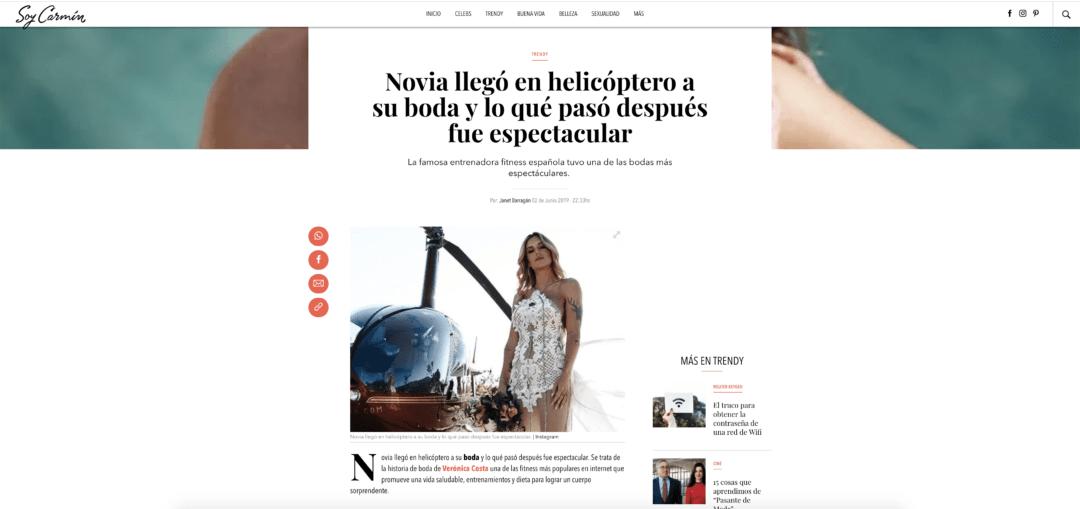 NOVIA LLEGÓ A SU BODA EN HELICÓPTERO Y LO QUE PASÓ DESPUÉS FUE ESPECTACULAR